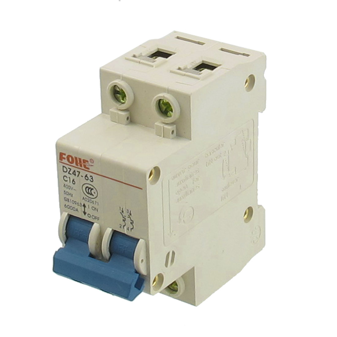 AC 400V 16A 2 Poles Overload Protection MCB Mini Circuit Breaker