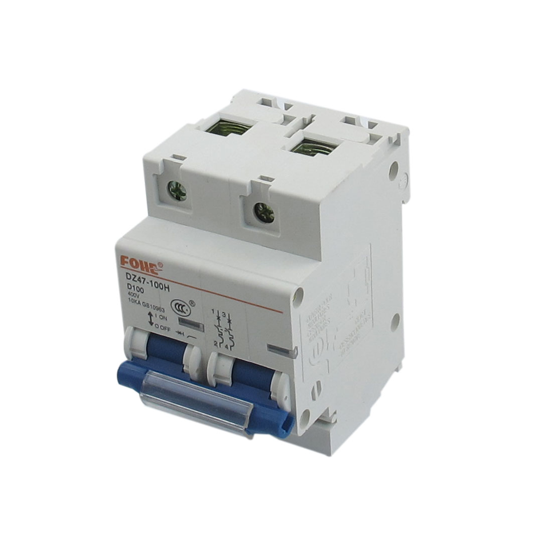 AC 400V 100A 2 Poles Overload Protection MCB Mini Circuit Breaker