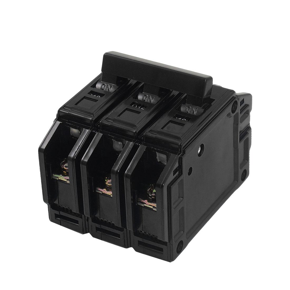 AC 220V/380V 16A Three Poles 3P MCCB Moulded Case Circuit Breaker