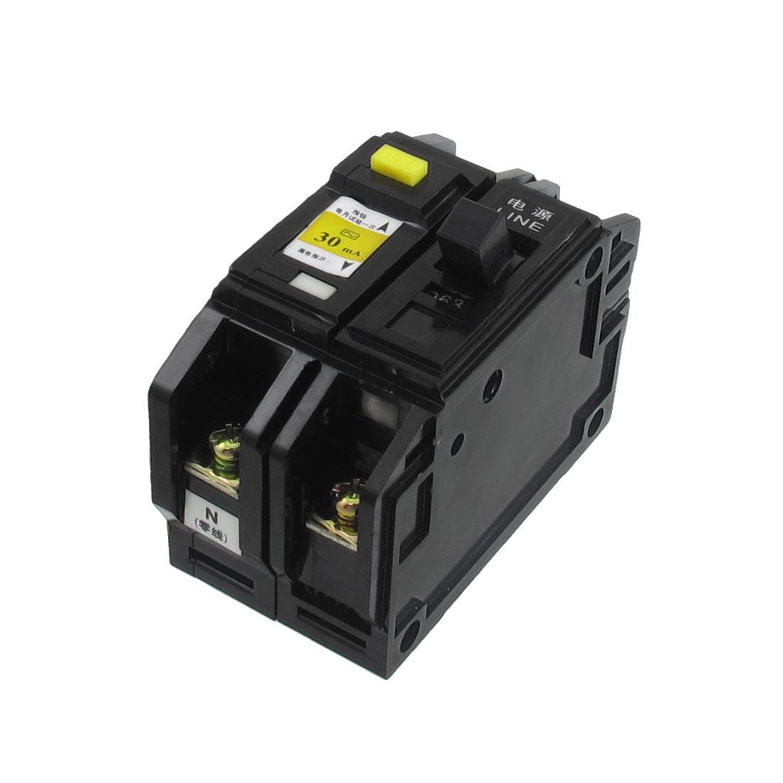 DZ12LE AC 220V/380V 63A 1P+N ELCB Earth Leakage Circuit Breaker