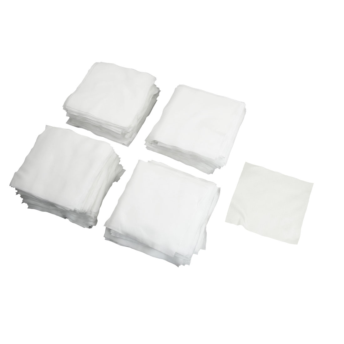 "400 Pcs 4"" x 4"" White Dustless Cleanroom Wiper Wiping Cloth"