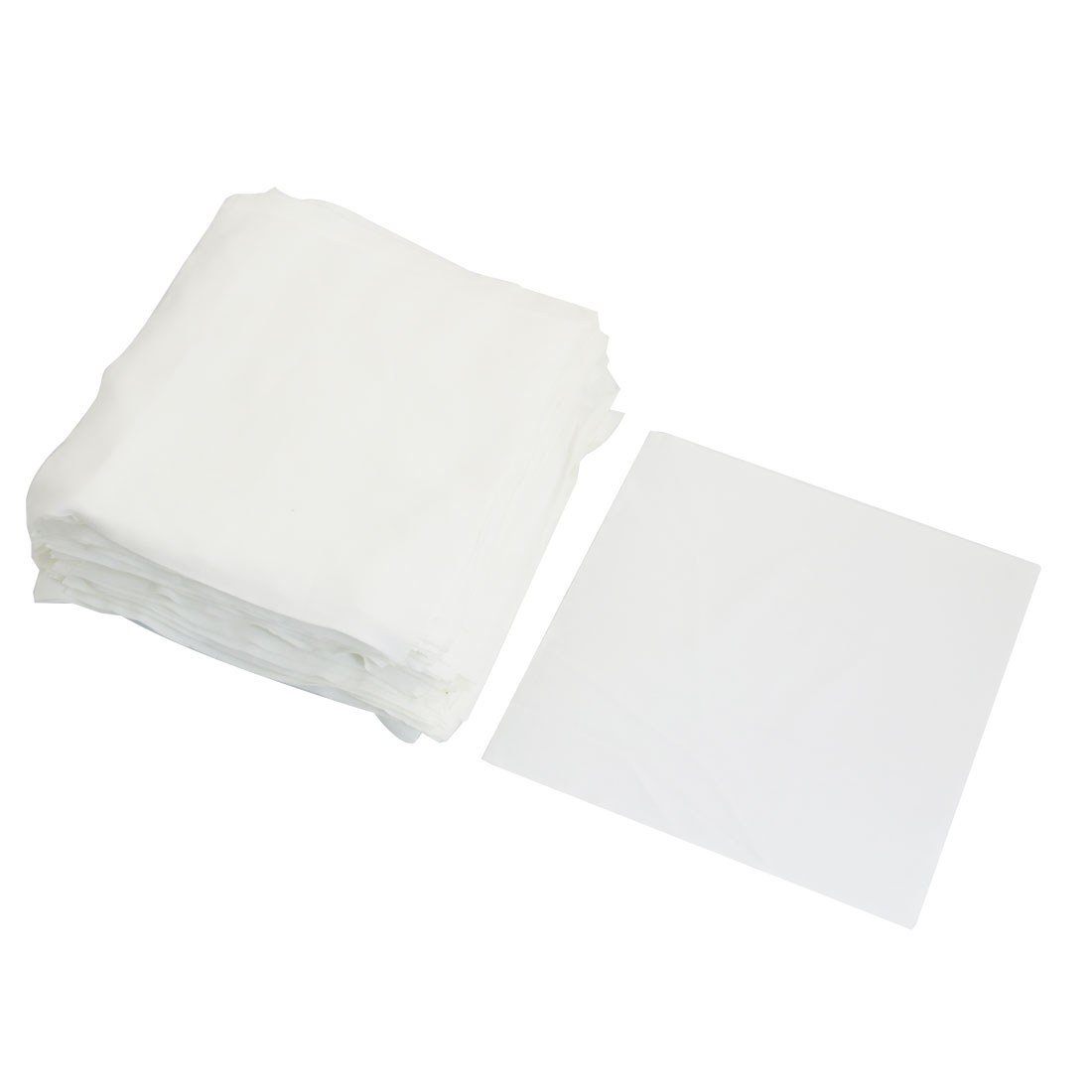 "100 Pcs 6"" x 6"" White Dustless Cleanroom Wiper Wiping Cloth"