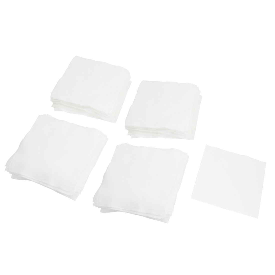 "200 Pcs 4"" x 4"" White Dustless Cleanroom Wiper Wiping Cloth"