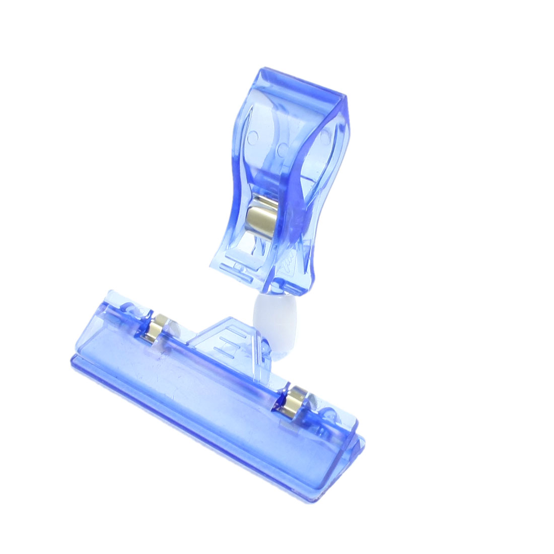 "Clear Blue 4.1"" Height Plastic Supermarkets Stores Pop Clip Holder"
