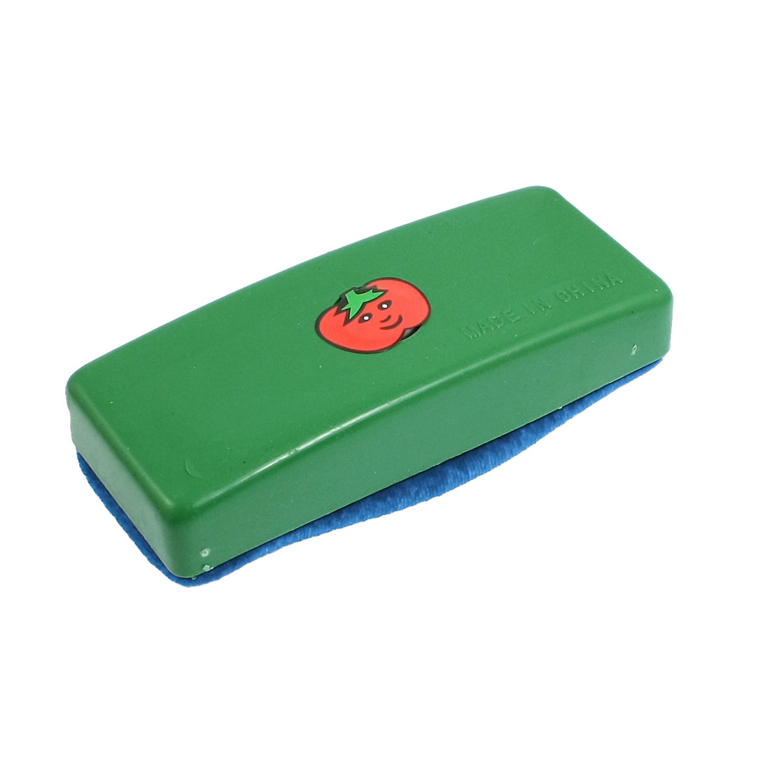 Green Plastic Housing Blue Velvet Blackboard Eraser Chalk Cleaner