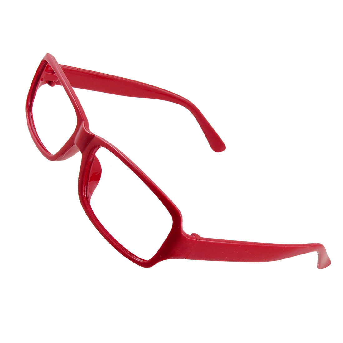 Ladies Plastic Red Arms Rectangular Full Rims Spectacles Frame
