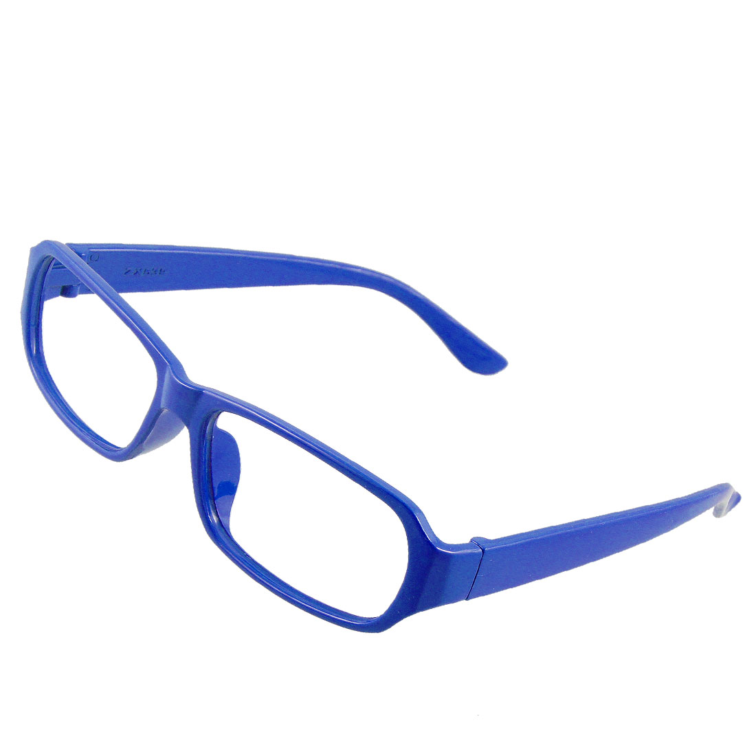 Plastic Oblong Shape Blue Eyewearing Glasses Frame for Women