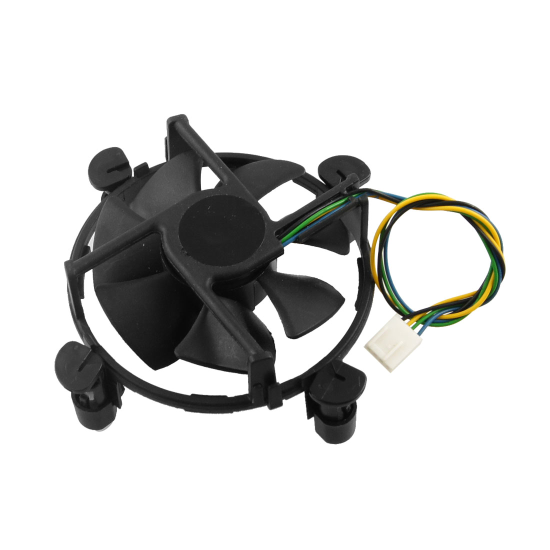 Black Round Shape 4 Pins Connector CPU Cooler DC Fan for Intel LGA 775