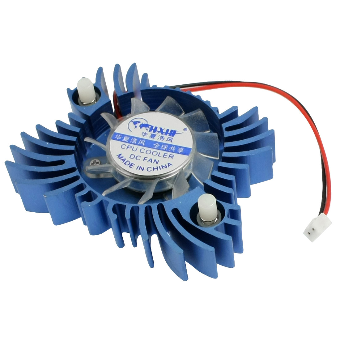 Buterfly Shape Connector CPU Cooler DC Fan for PC Computer 2 P