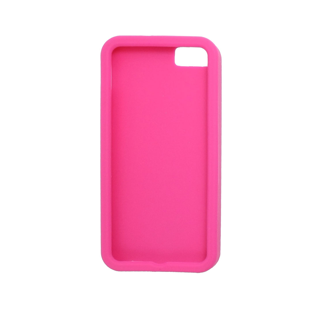 Silicone Solid Color Shield Cover Case Fuchsia for iPhone 5 5G