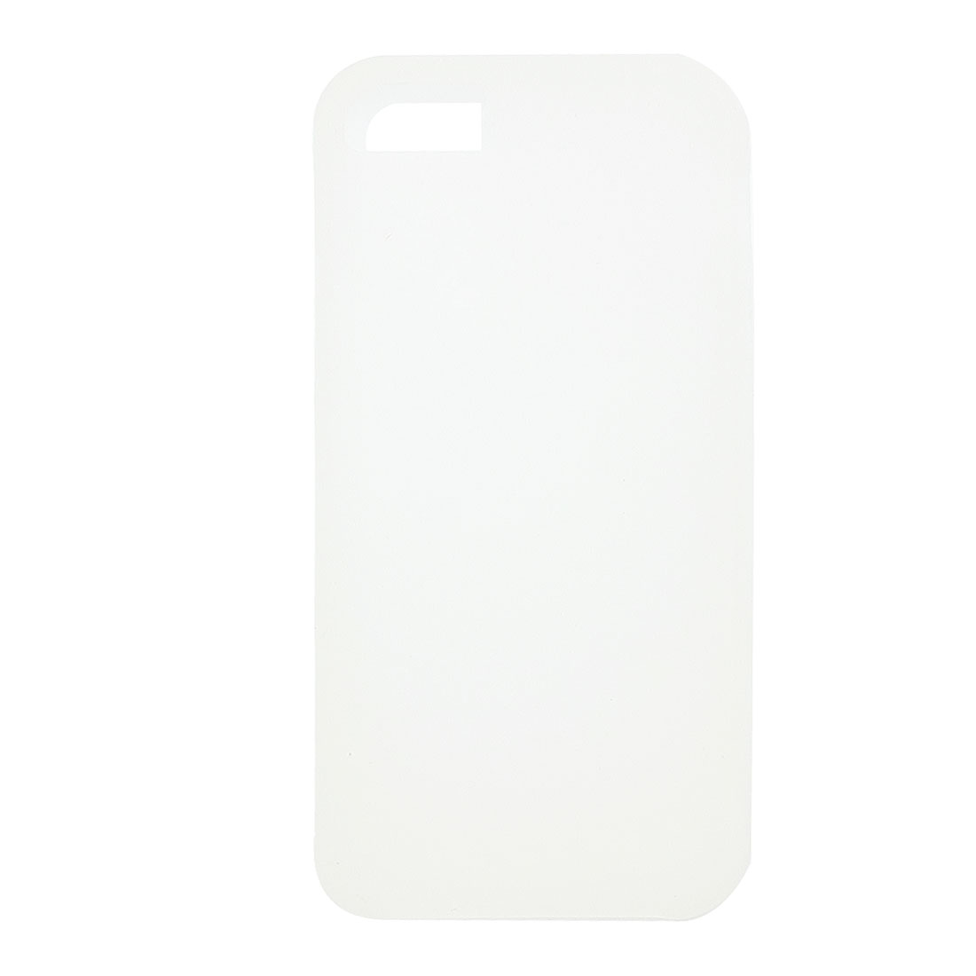 White Silicone Solid Color Shield Cover Case for iPhone 5 5G