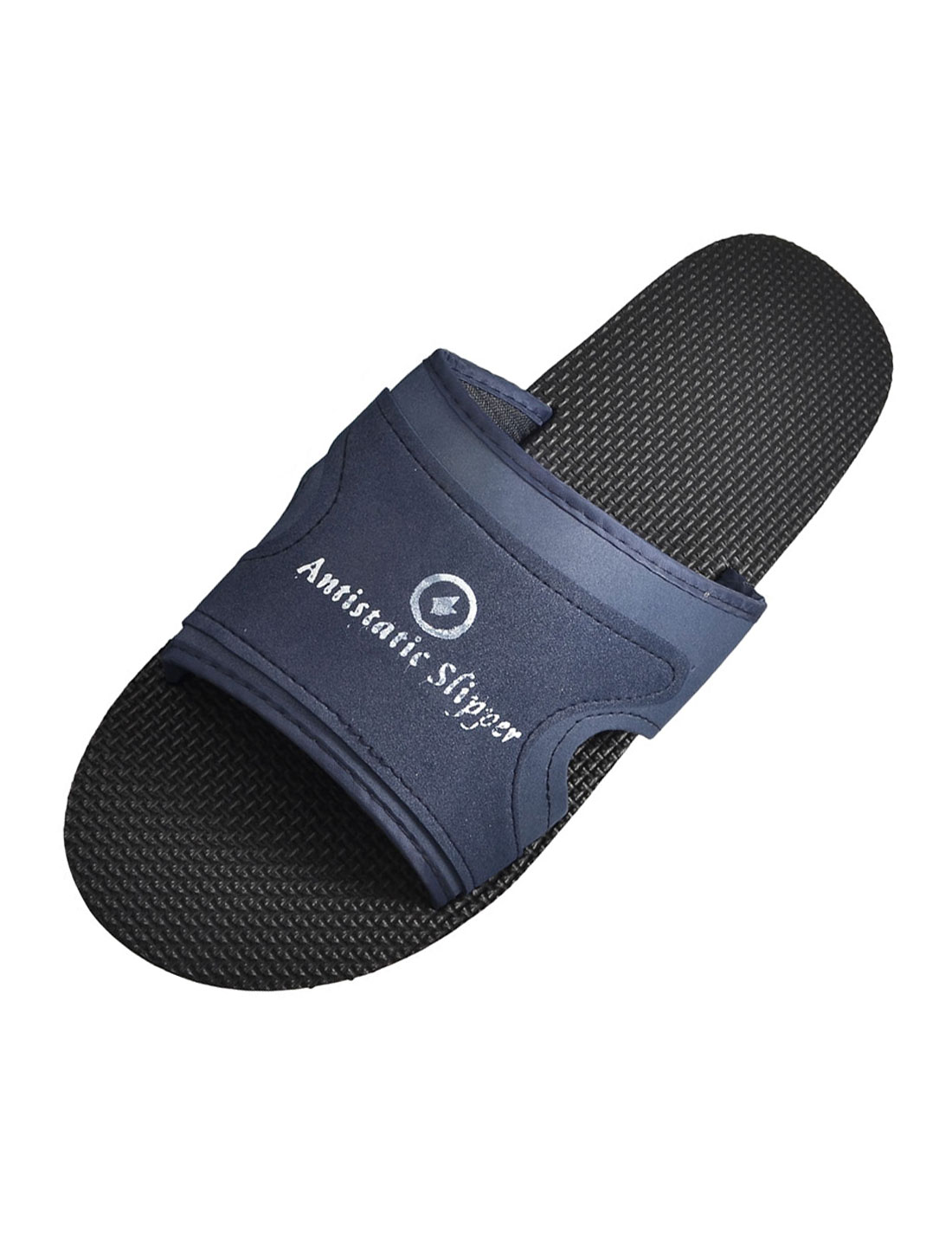 Size 44 Black Navy Blue Foam Anti Slip Slippers for Men