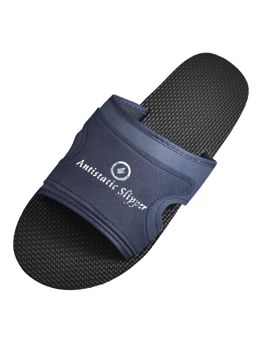 US 6 Black Navy Blue Foam Anti Slip Antistatic ESD Slippers for Men