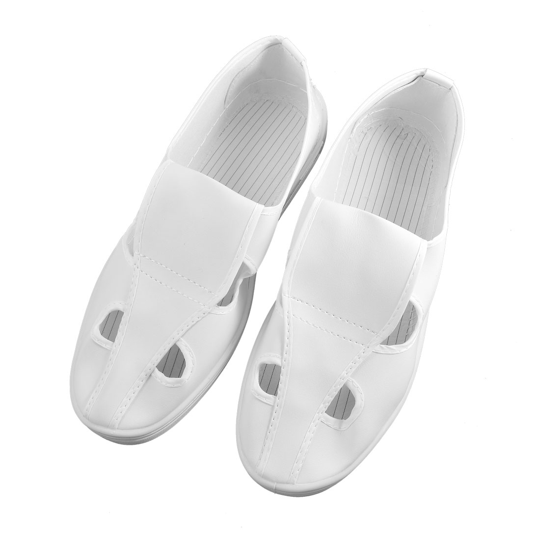 Men White PVC Nonslip Sole Anti-static Clean Room ESD Shoes US 9.5
