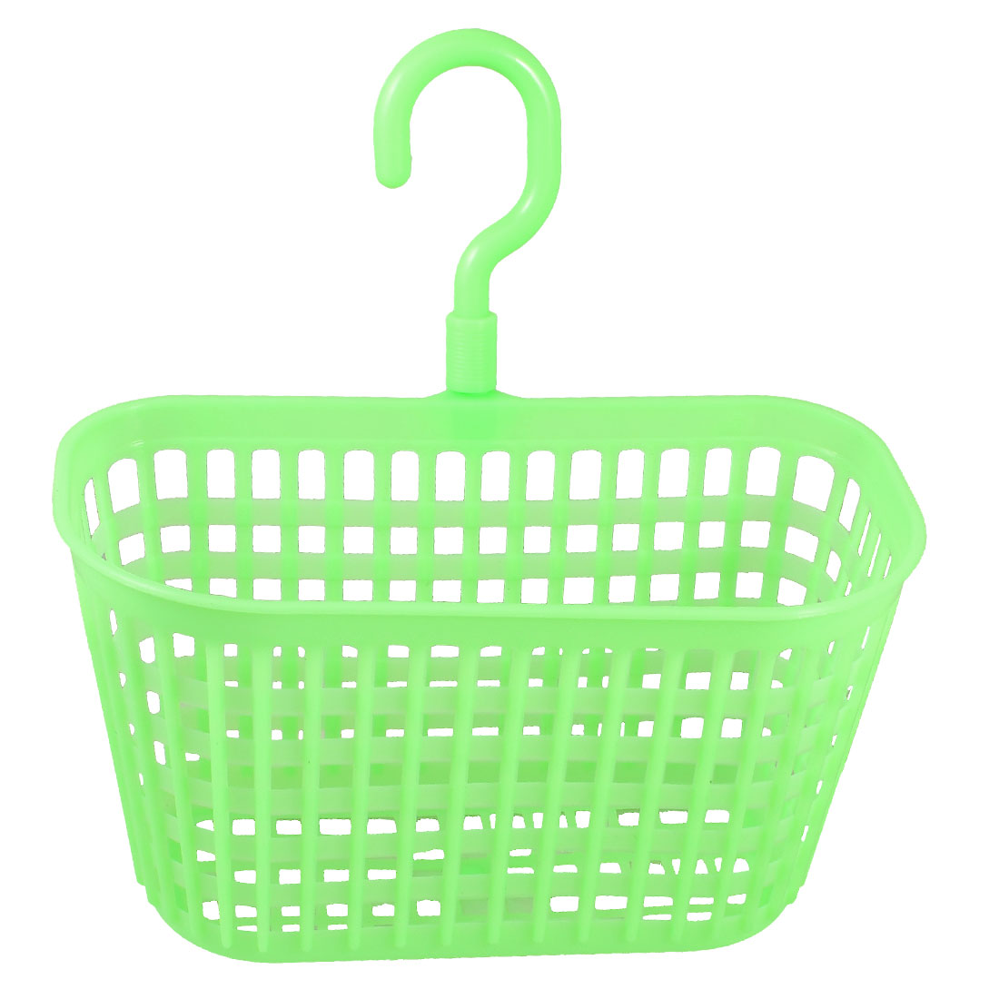 Rectangular Light Green Plastic Kitchen Storing Grid Hook Basket