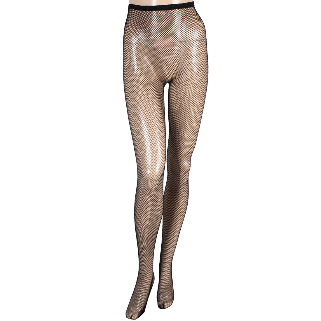 Lady Sexy Black Elastic Fishnet Slim Hole Pantyhose Leggings XS