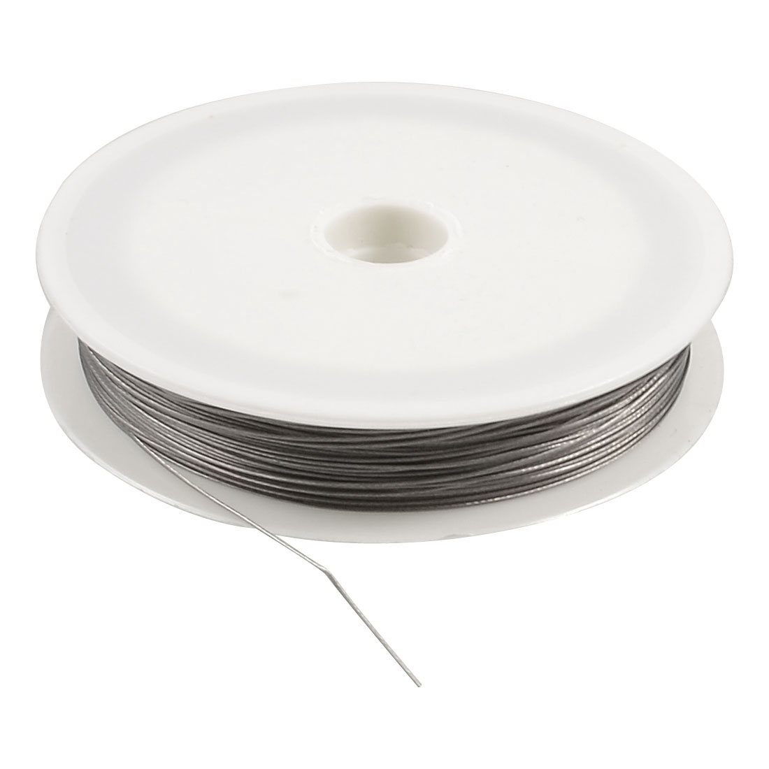 0.45mm Diameter 20m Long Gray Steel String Fishing Line Spool