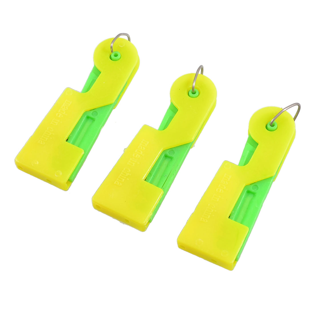 3 Pcs Green Yellow Plastic Sewing Guiding Needle Threader