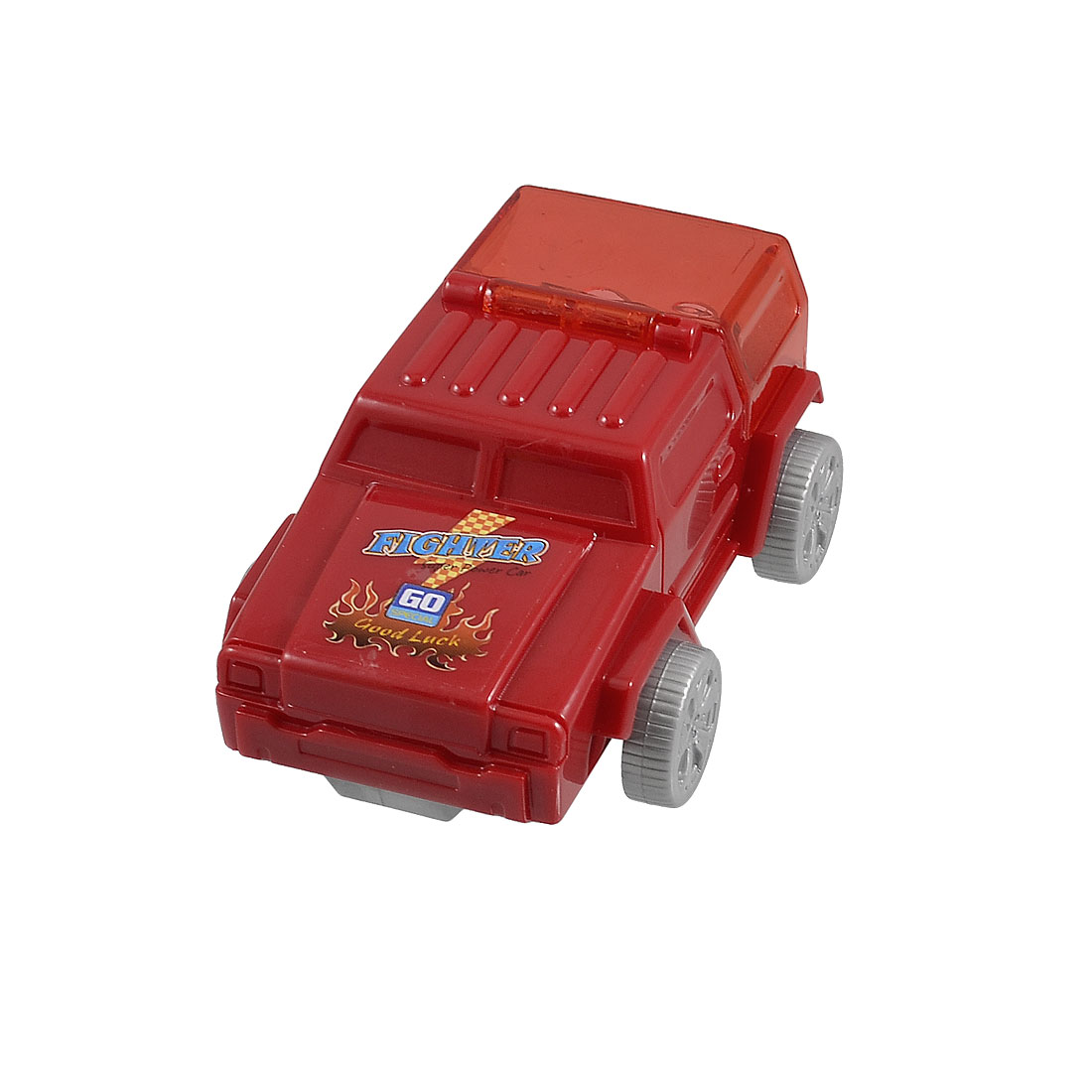 Red Plastic Jeep Car Shaped Double Hole Style Pencil Sharpener