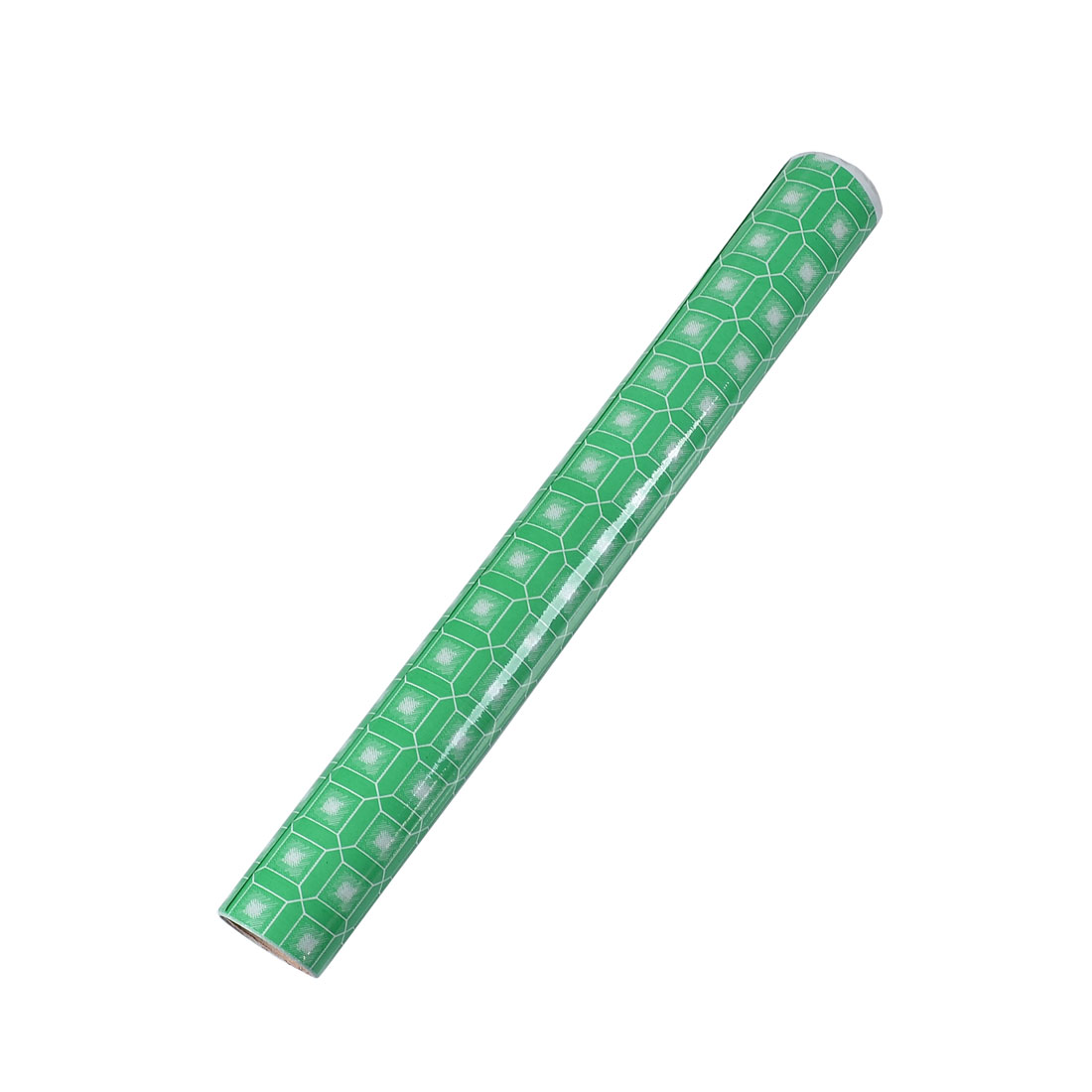 45cm x 1.8m Green White Octagon Square Pattern Adhesive Glass Film Roll