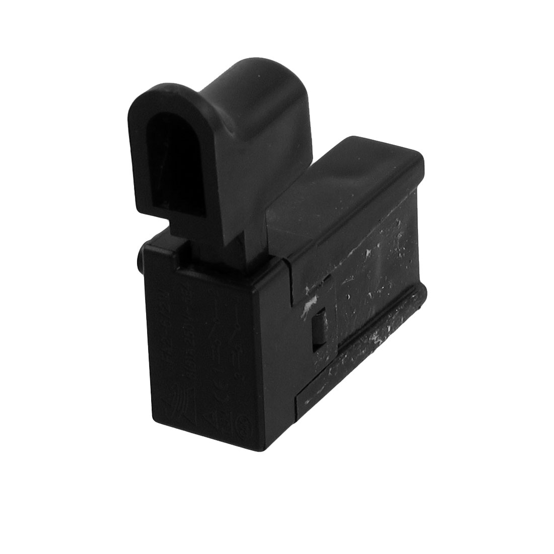 AC 250V 6A Momentary DPST NO Black Case Electric Tool Trigger Switch