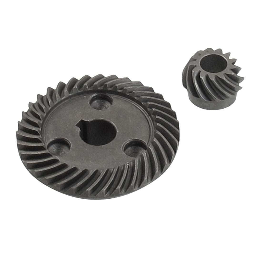 2 Pcs 11mm Shaft Metal Spiral Bevel Gear Set for 100 Angle Grinder