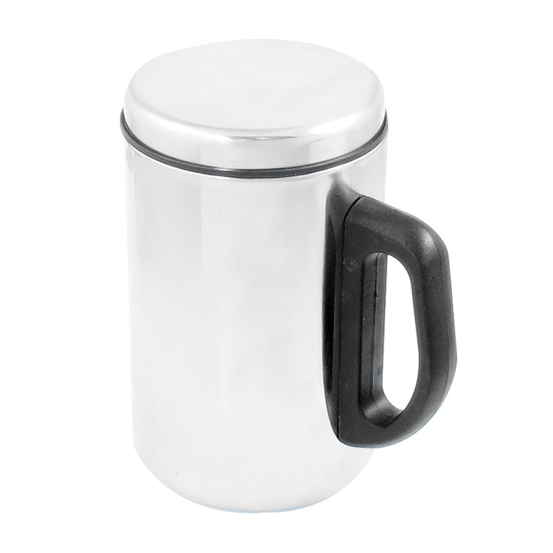 Silver Tone Shell Double Stainless Steel Coffee Mug Cup 350ml
