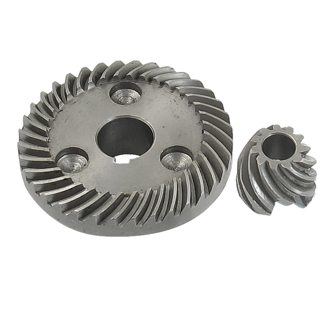 2 Pcs 12mm Shaft Metal Spiral Bevel Gear Set for Makita 9523NB