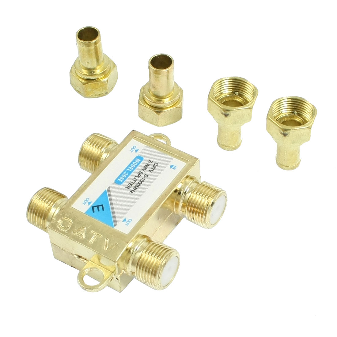 CATV Directional Coupler 1 in 3 out Coaxial Connector 3 Way Splitter