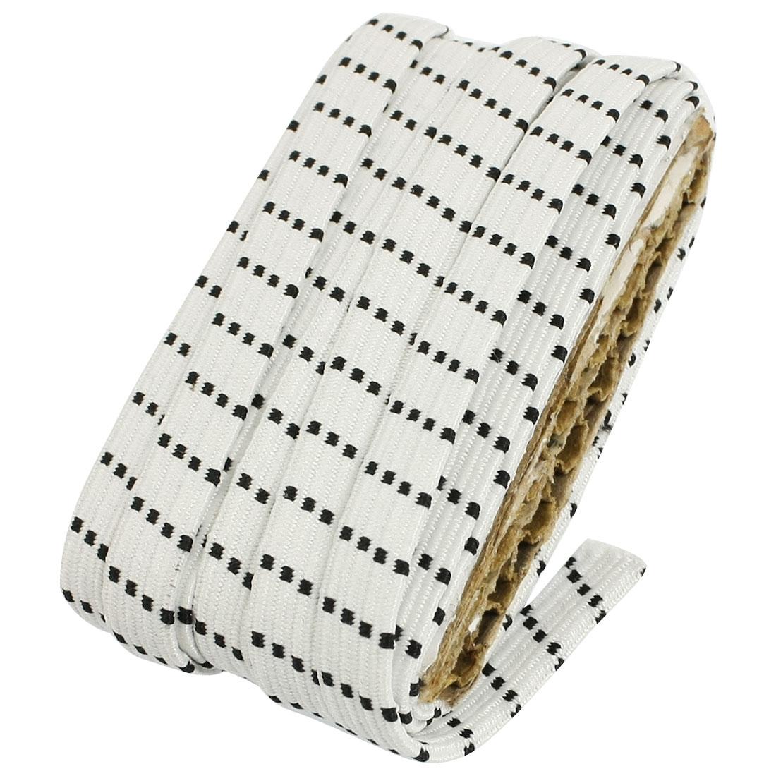 Ladies Tailor Textured Elastic Waist Belt Corset Band Black White