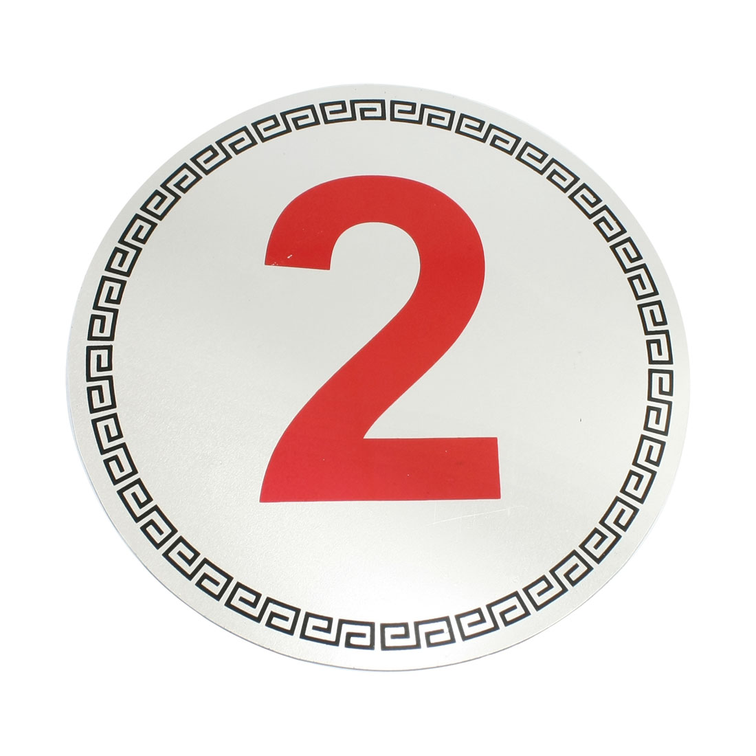 Parking Place Office Desktop Arabic Numeral Symbol Number 2 Sign Sticker Silver Tone