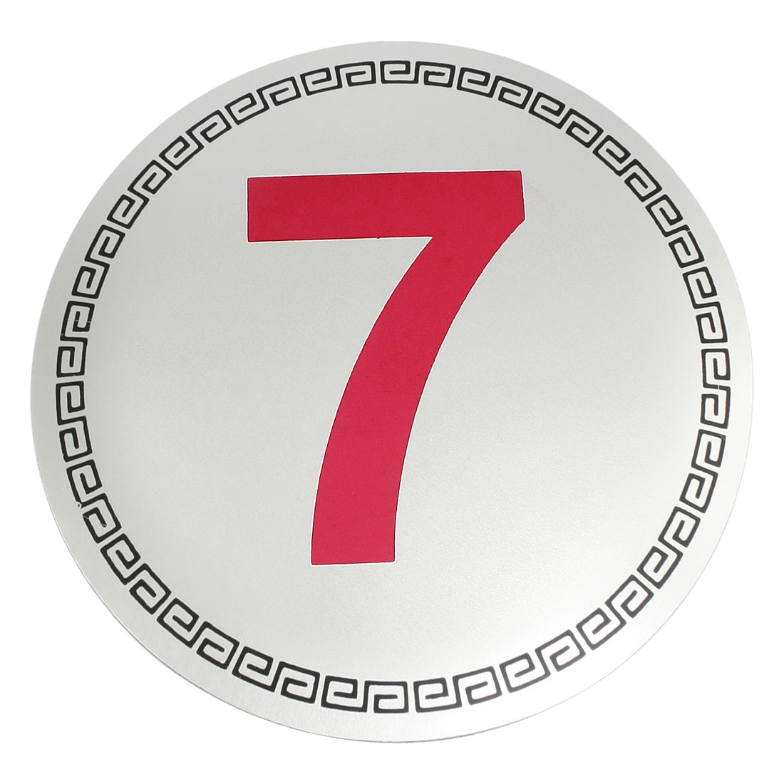 Number 7 Symbol Hotel Door Parking Place Plastic Sign Sticker Silver Tone