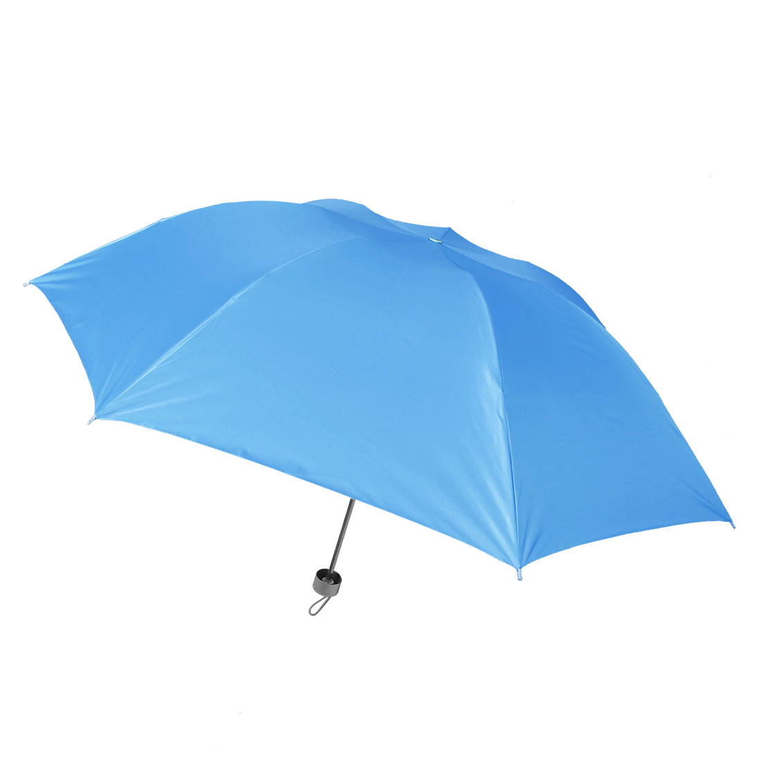 Sky Blue Water Resistant Canopy Telescopic Shaft Folding Rain Umbrella