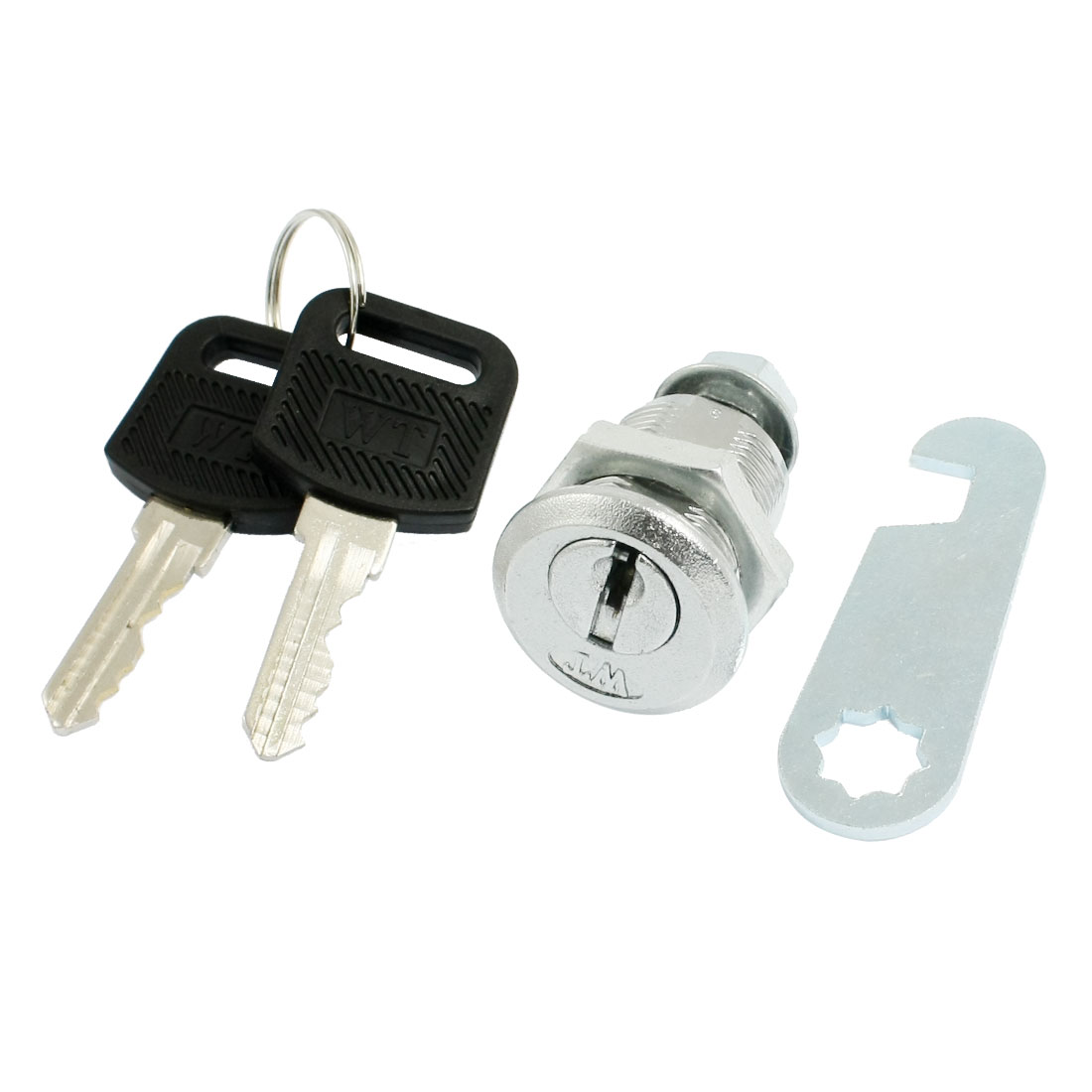 "Cabinet 0.7"" Male Thread Quarter Turn Security Cam Lock w Keys"