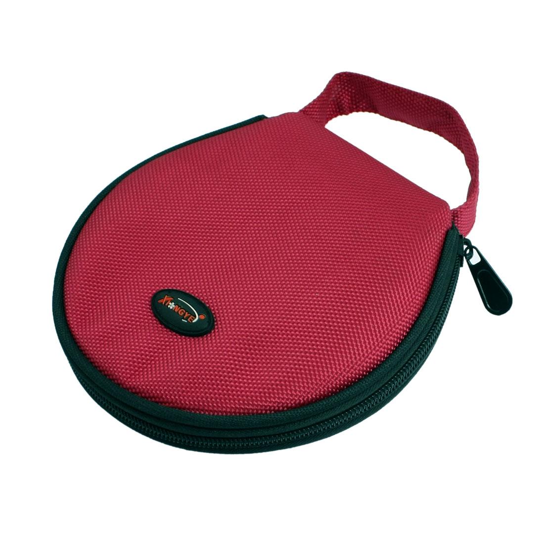 Red Nylon Zipper Closure 20 CDs Disc Holder Bag Organizer
