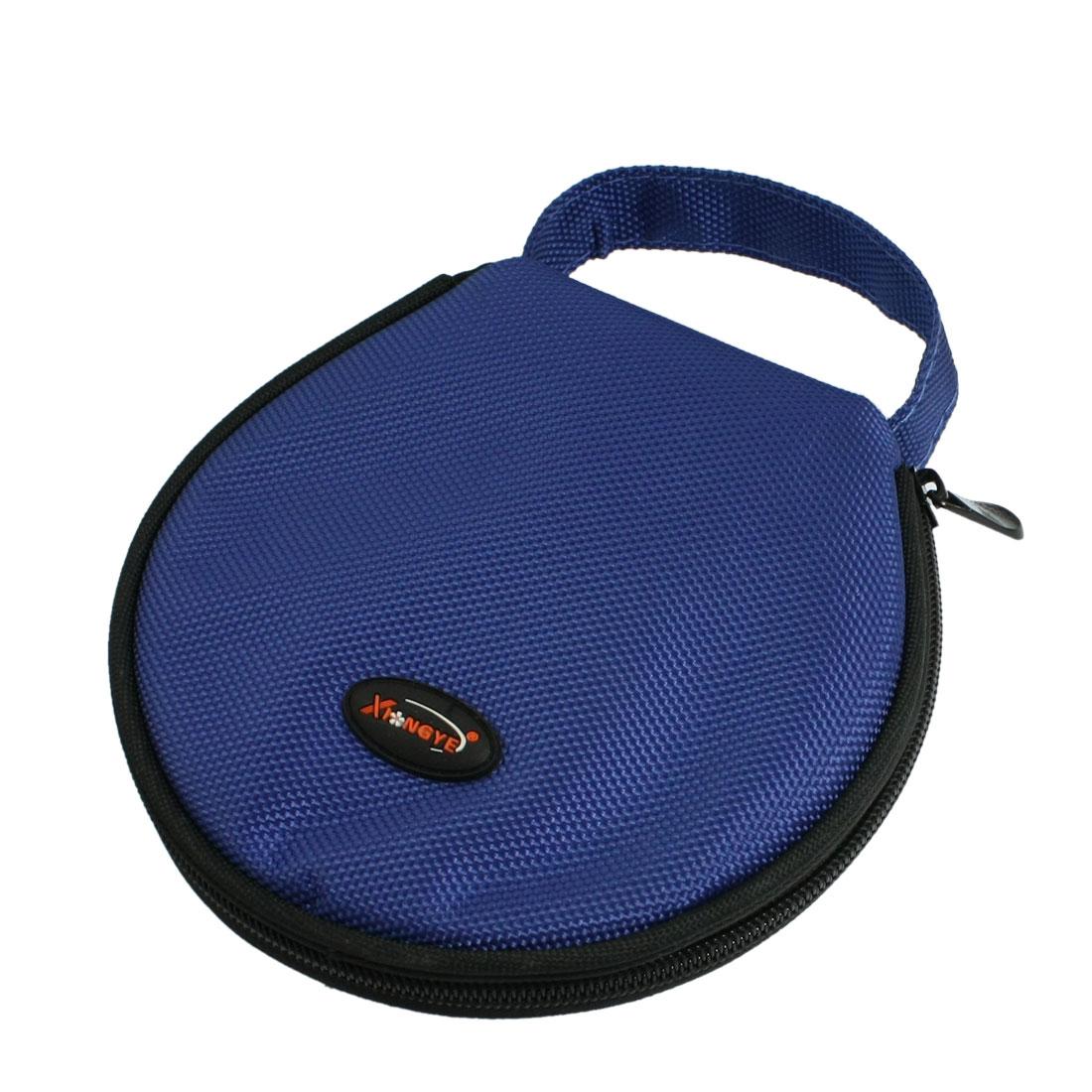 Blue Nylon Zipper Closure 20 CDs Disc Holder Bag Organizera