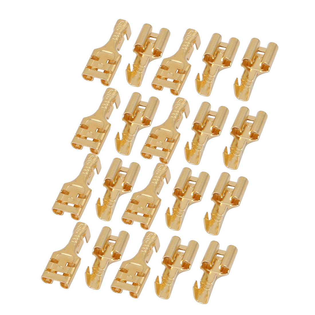 20 Pcs Brass Female Spade Cable Terminals for 6.3mm Connectors