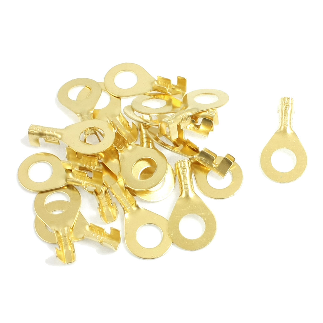 20 Pcs Quick Disconnects Non-insulated Ring Terminal Lug Connector 5mm