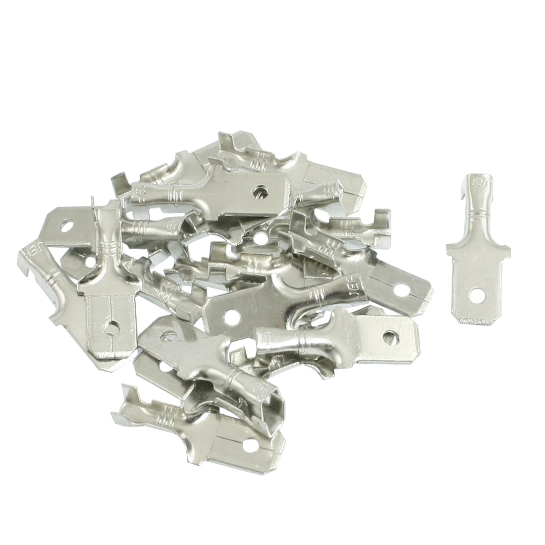 20 Pcs Male Spade Cable Wire Crimp Terminals for 6.3mm Connectors