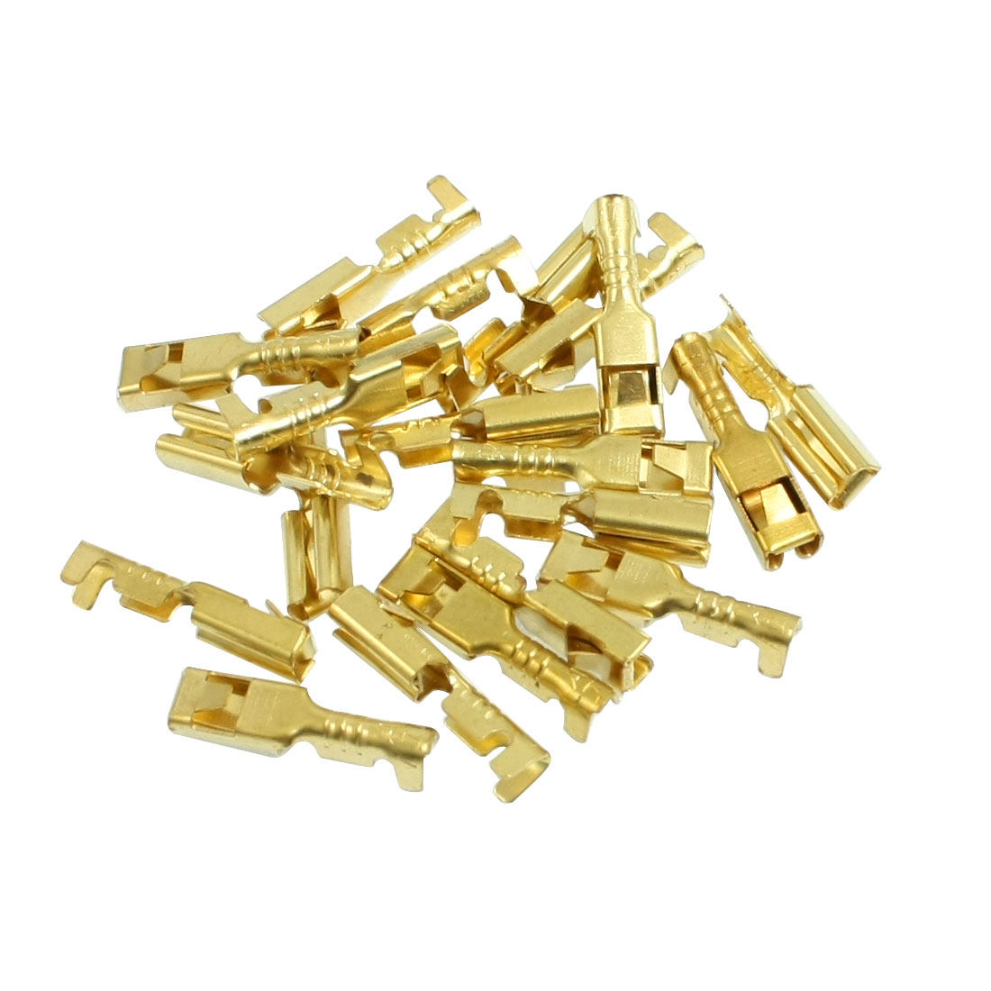 20 x Gold Tone Female Spade Crimp Terminals 2.8mm Wiring Connectors