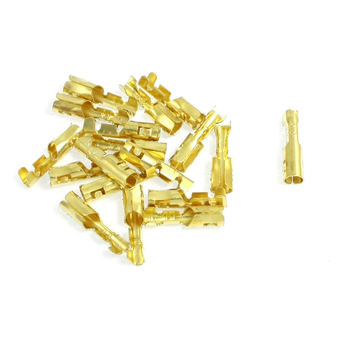 18 Pcs 3mm Diameter Wire Brass Female Crimp Terminal Connectors 4mm
