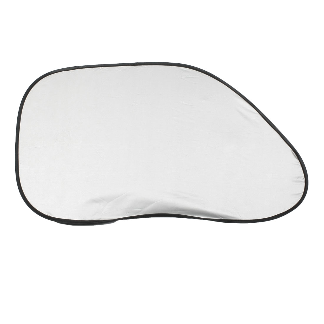 2 Pcs Foldable Side Window Sunshades Sun Visor Shield Black Silver Tone