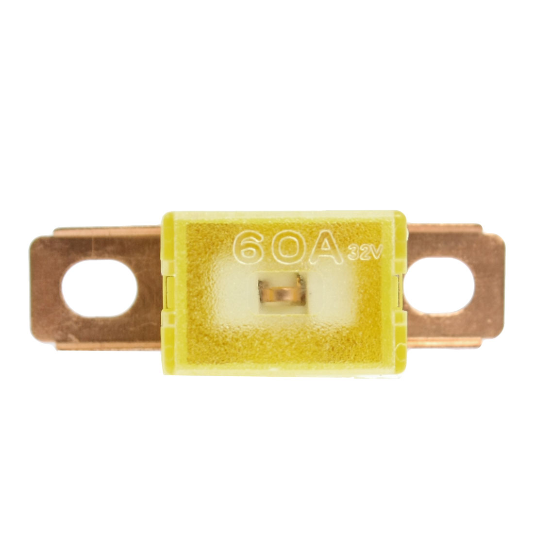 Bent Male Pacific Type Auto Link PAL Fuse Yellow 62mm 60A