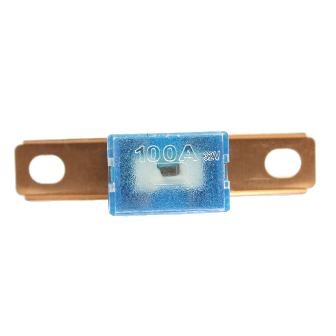 Auto Connecting Blue Slow Blow Bent Male PAL Fuse 62mm 100A