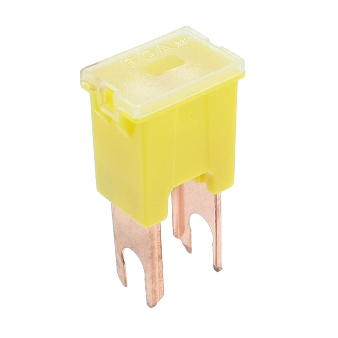Automotive Car Yellow Slow Blow Male PAL Straight Blades Fuse 60A