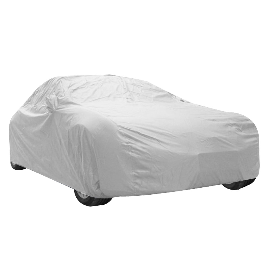 Outdoor Anti Dust Rain Snow Silver Tone Saloon Sedan Car Cover for Audi A6L A8