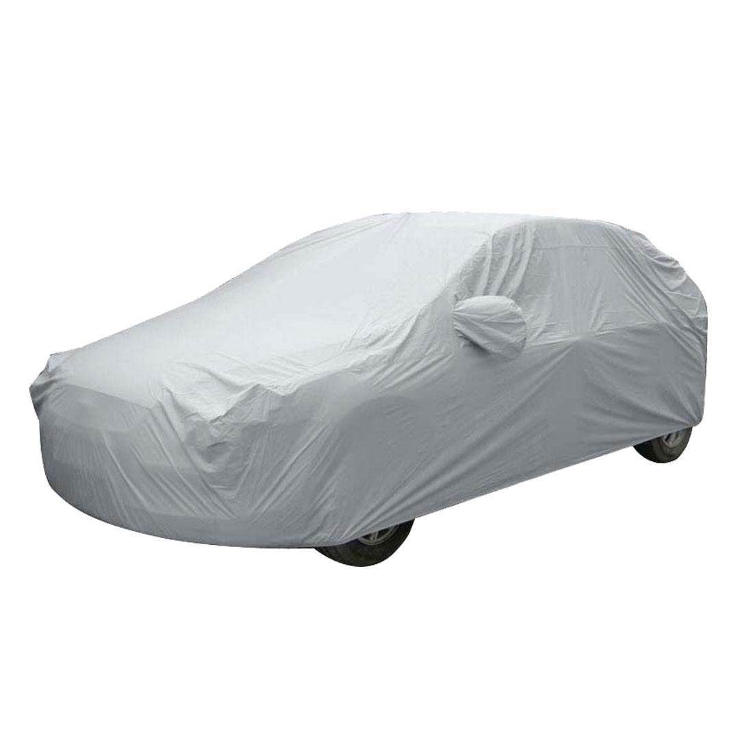 Anti Dust Water Proof Sedan Car Cover Silver Tone for Volkswagen Jetta Bora Golf