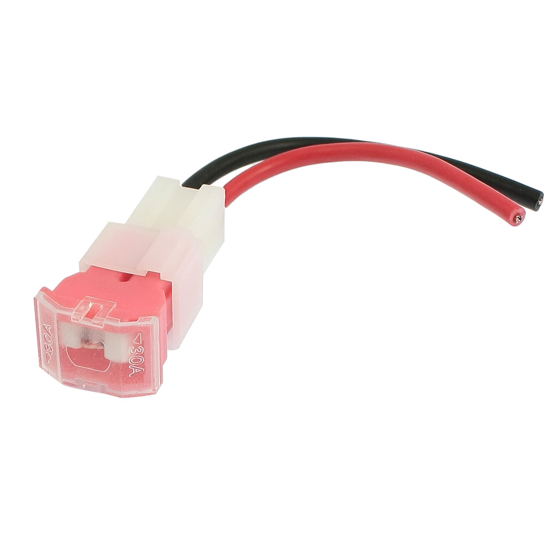 Automotive Vehicle Car 2 Cables 30A PAL Female Inline Fuse Holder Pink