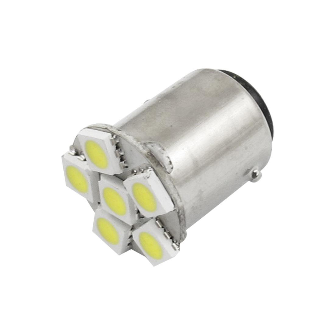 BA15D 1157 White 5050 SMD 6 LED Turn Signal Light Bulbs for Auto