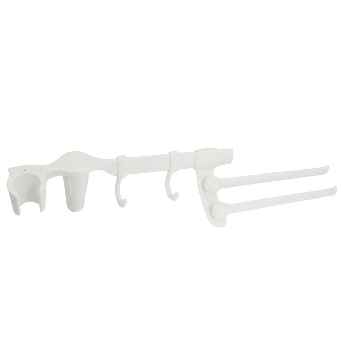 Offwhite Plastic Multi-purpose Rotatable 180Degree Towel Rack